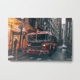 Fulton Fire Squad Metal Print
