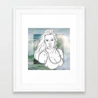 kim kardashian Framed Art Prints featuring KIM KARDASHIAN by vllancourt