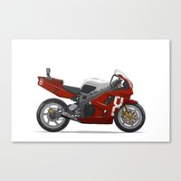 honda Canvas Prints featuring Honda Fireblade by Ian Galvin