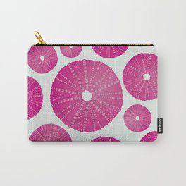 Sea's Design - Urchin Skeleton (Deep Pink) Carry-All Pouch