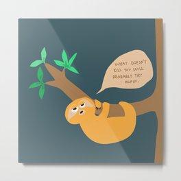 Sloth on the hang Metal Print