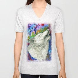 The colors of the Wolf Unisex V-Neck