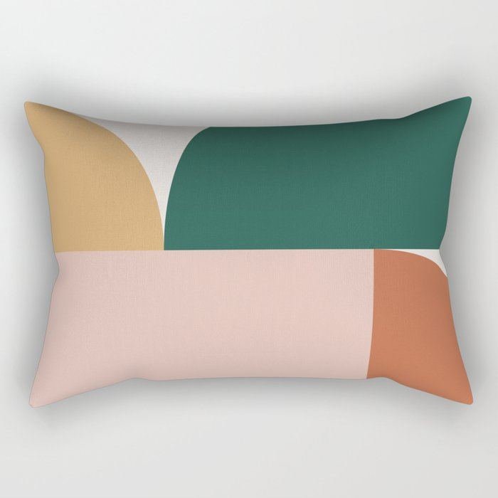 Abstract Geometric 11 Rectangular Pillow