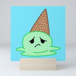 Sad Food - Oopsy Daisy Ice Cream by Squibble Design Mini Art Print