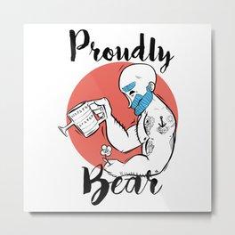 Proud Gay Bear Metal Print