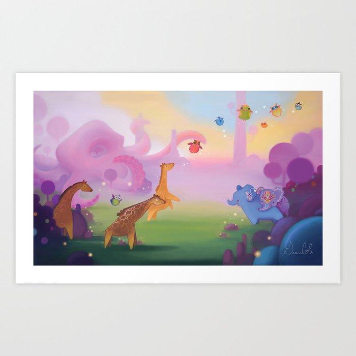 Octo-land Art Print