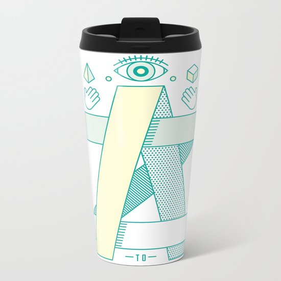 A to Z Metal Travel Mug