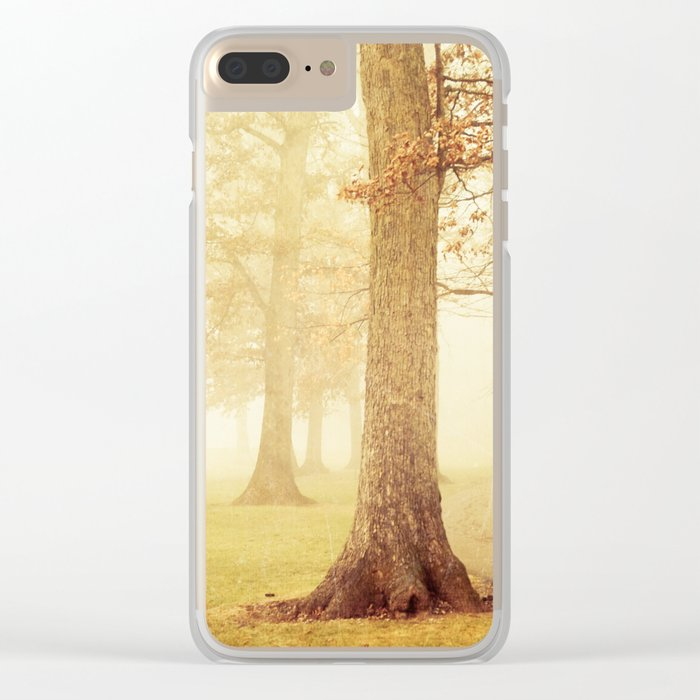 I Heard Whispering in the Woods Clear iPhone Case