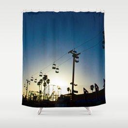 Sunset at the Boardwalk Shower Curtain