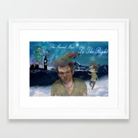larry stylinson Framed Art Prints featuring Larry Stylinson-Peter Pan  by MADEINTHEAM