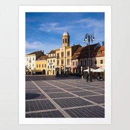 Council Square in Brasov Art Print