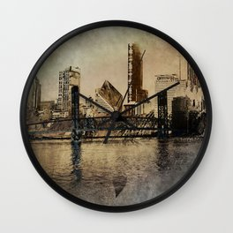 Sunset in the City Wall Clock