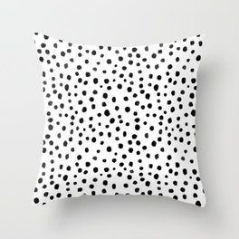 Modern Polka Dot Hand Painted Pattern Throw Pillow