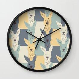Kangaroos Wall Clock