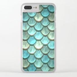 Serene Mermaid Scales Clear iPhone Case