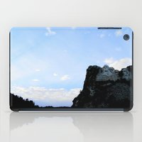 rushmore iPad Cases featuring Mt. Rushmore At Sunset by Jennifer L. Craft