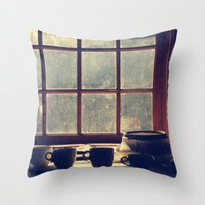 By the window Throw Pillow