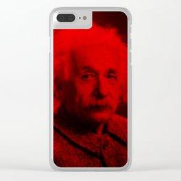 Albert Einstein - Celebrity (Photographic Art) Clear iPhone Case