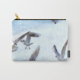 Gulls In Flight Watercolor Carry-All Pouch