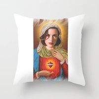 scully Throw Pillows featuring Dana Scully by Michelle Wenz