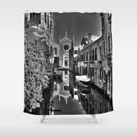 venice Shower Curtains featuring Venice by LaCatrina.it