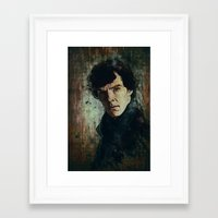 sherlock Framed Art Prints featuring Sherlock by Sirenphotos