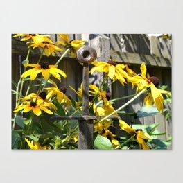Sword Among Flowers Canvas Print