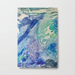 Water Scarab Fossil Under the Ocean, Environmental Metal Print