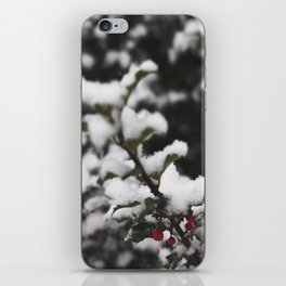 Winter Holly iPhone Skin