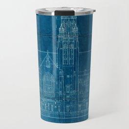 Church Elevation Blueprint Travel Mug