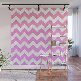 Pink Spectrum Chevrons  Wall Mural
