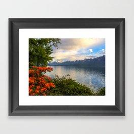 Springtime in Montreux, Switzerland Framed Art Print