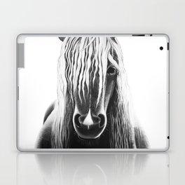 Horse Black and White Painting Laptop & iPad Skin