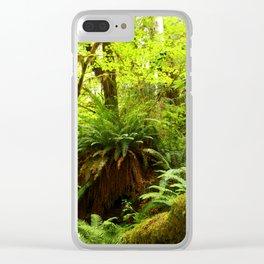 Rainforest Ferns Clear iPhone Case