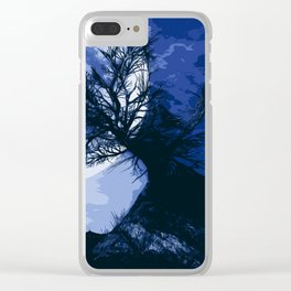 Creepy nights Clear iPhone Case
