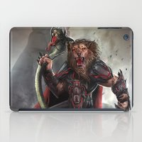 the lion king iPad Cases featuring Lion King by Alexandrescu Paul