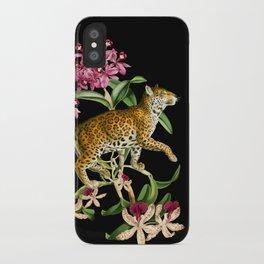Leopard black iPhone Case