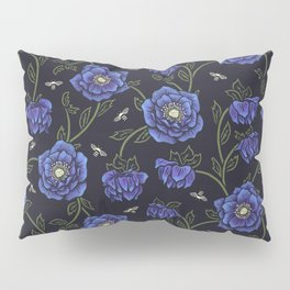 Midnight Hellebore Pillow Sham