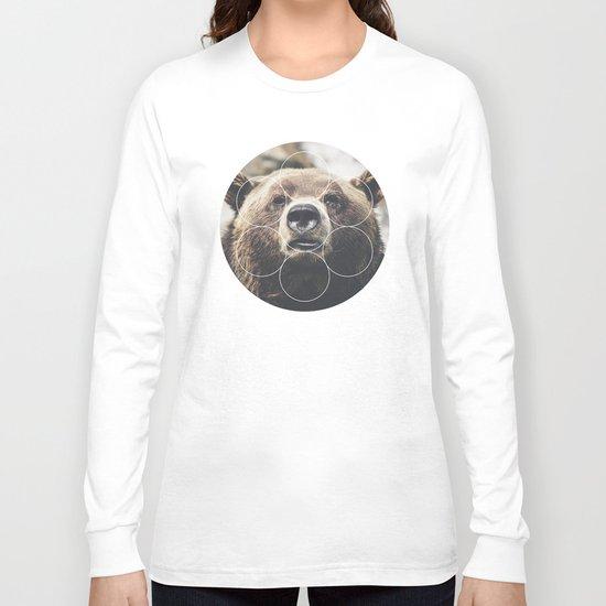 Big Bear Buddy - Geometric Photography Long Sleeve T-shirt