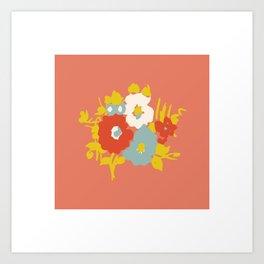 Coral Flora Art Print
