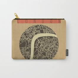 London Map Vector Carry-All Pouch