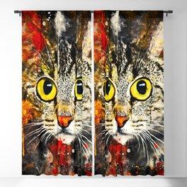 cat big eyes wsstd Blackout Curtain