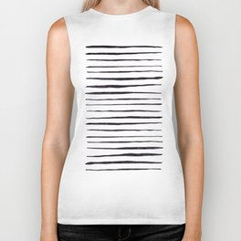 Black Ink Linear Experiment Biker Tank