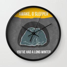 Awake O Sleeper Wall Clock