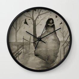 The Woman in Black Wall Clock