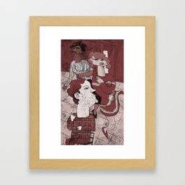 Sitting Still Framed Art Print