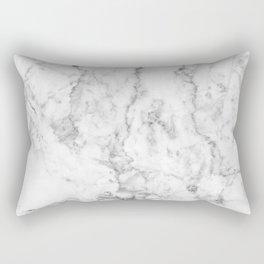 Gray & white faux marble no21 Rectangular Pillow