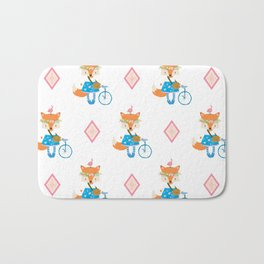 Girl Fox with Pink Diamond Bath Mat