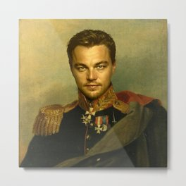 Leonardo Dicaprio - replaceface Metal Print