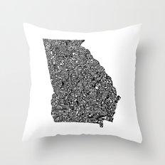 Typographic Georgia Throw Pillow